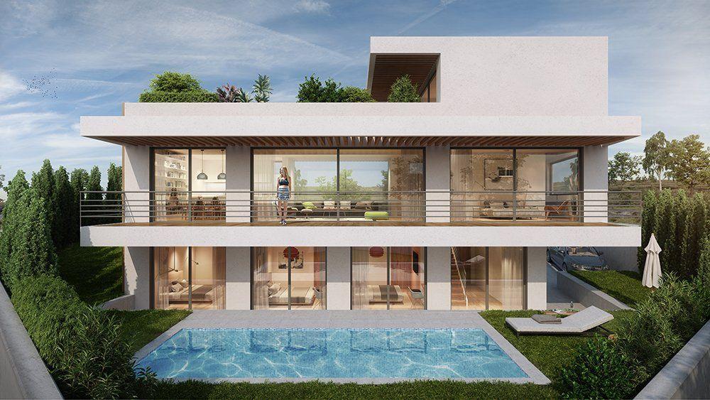 Fachada principal casa pasiva en Valle Niza