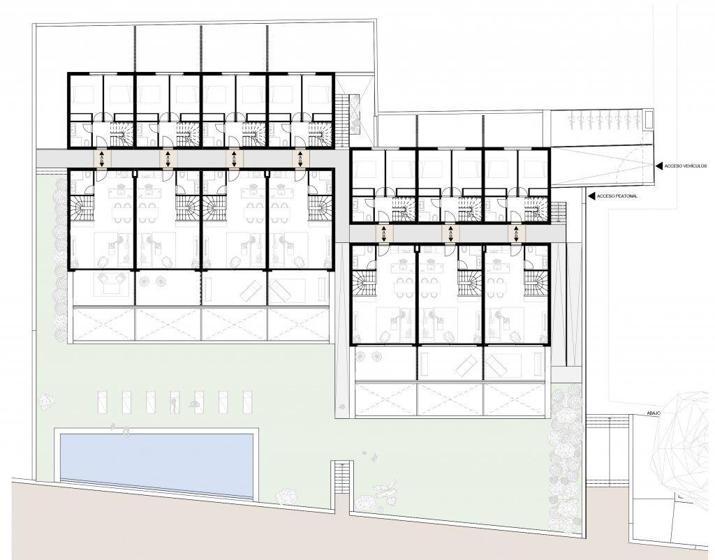Plano de la planta Baja de Benajarafe