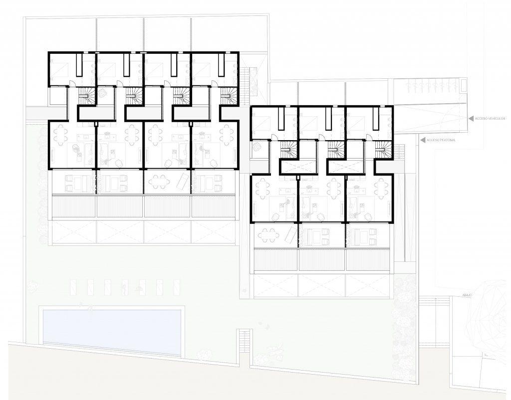 Un plano de la planta primera del conjunto