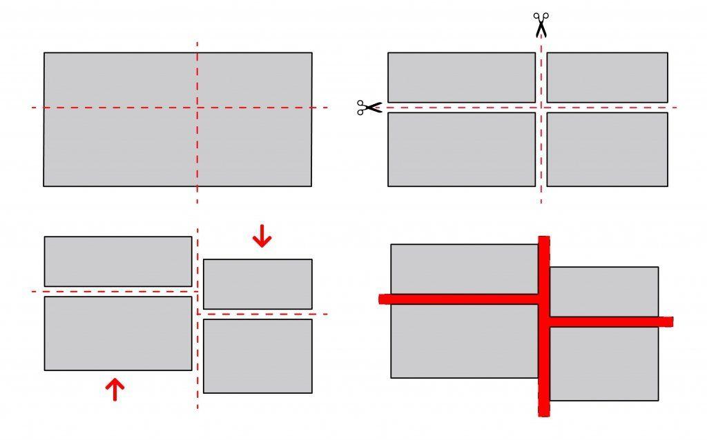 diagrama en el que se analiza la composición de los volúmenes edificatorios