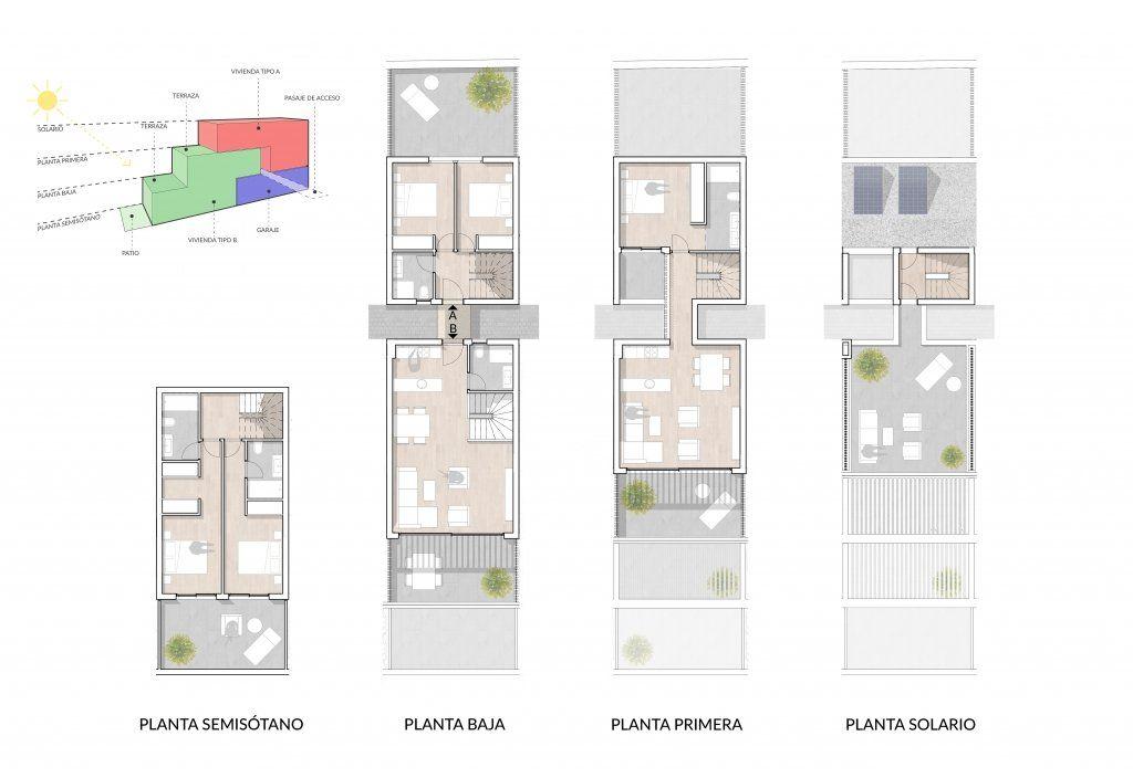 Plantas comerciales de las viviendas