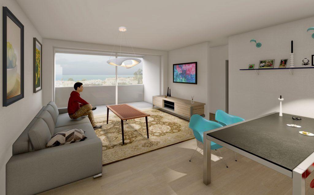 Interior salón vivienda Luna Playa