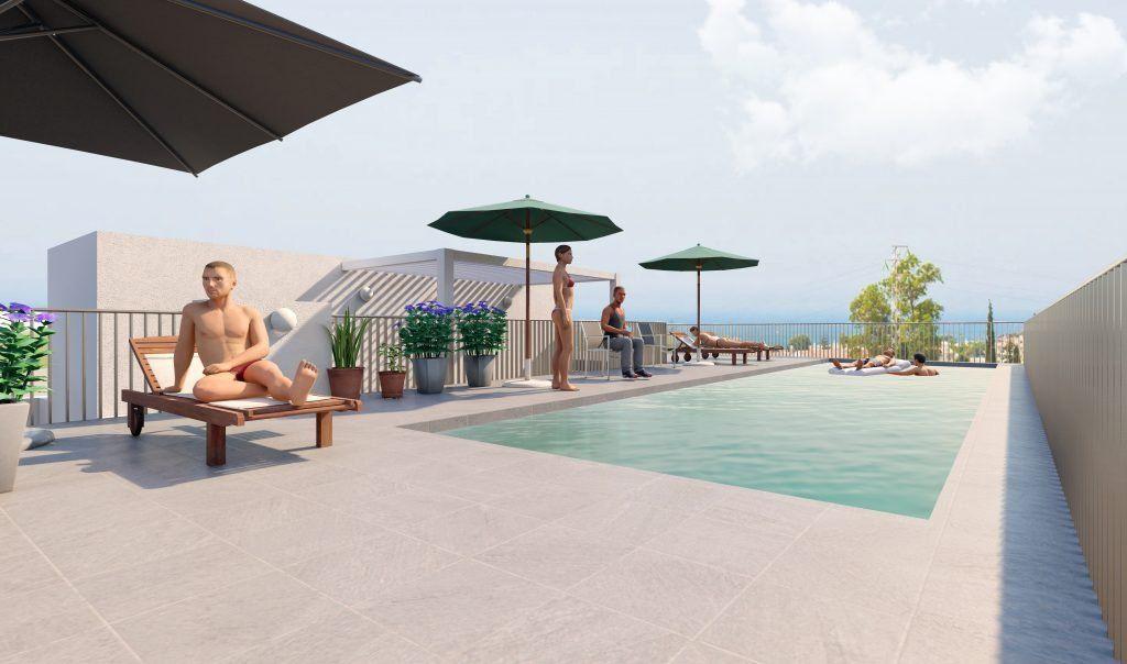 Render piscina cubierta Luna Playa cooperativa