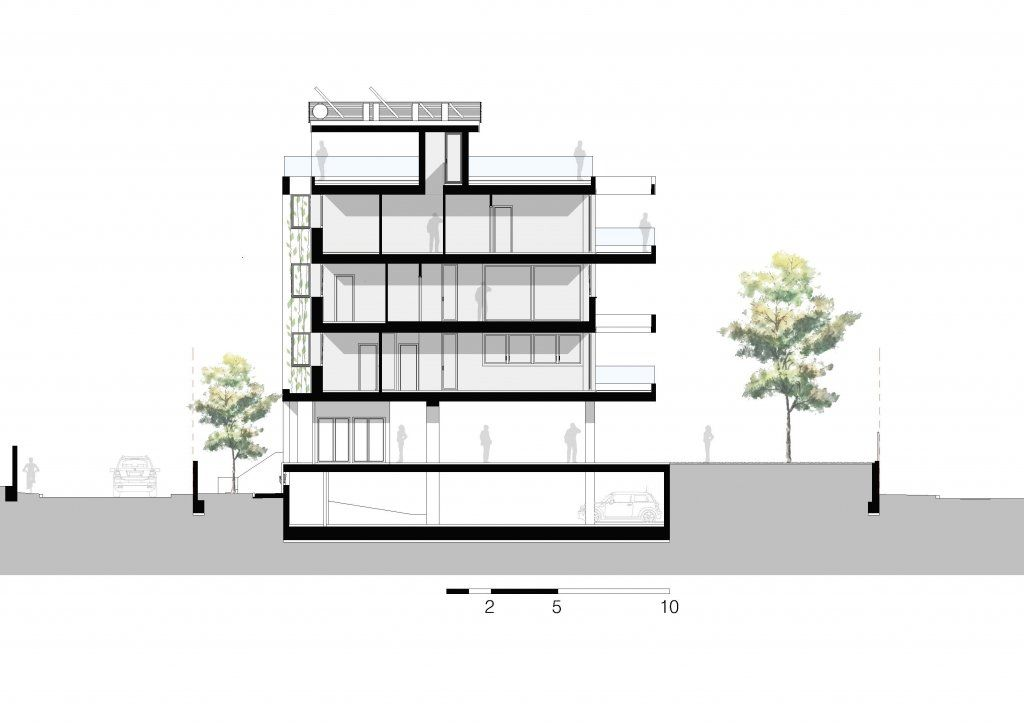 Sección del edificio Rocamar